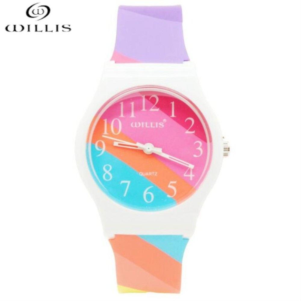 WILLIS Brand Quartz watch Women 3Bar Silicone Band womens Watches Ladies Gift Watch Analog Sports Wristwatch  Bracelet Relogio все цены