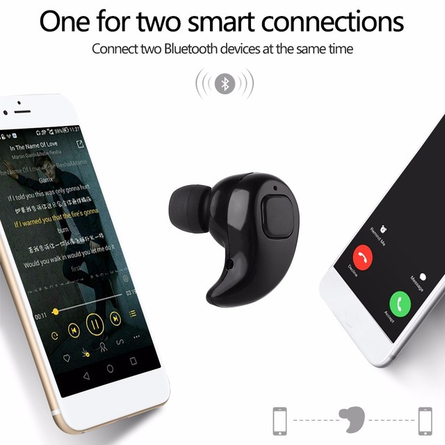 Free Shipping Bluetooth 4.1 Earphone Gaming Headset Wireless Head phone Handsfree Stereo Music QI-Enabled With mini Earbud