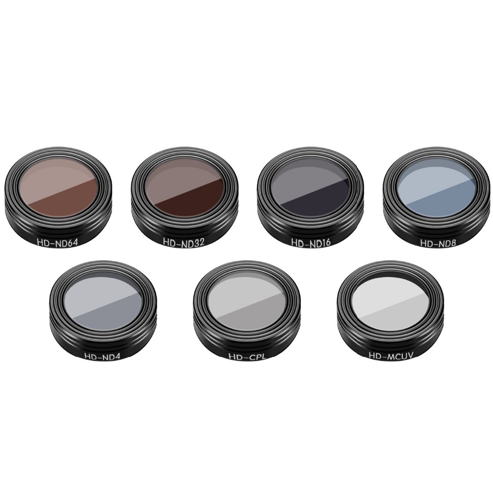 7 Pieces UV CPL ND4 ND8 ND16 ND32 ND64 Lens Filters for DJI Mavic Air RC