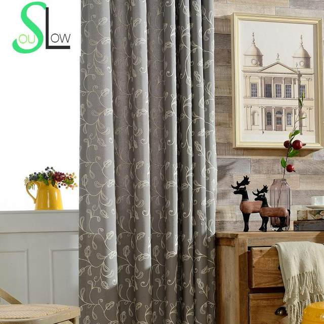 Online-Shop Langsam Seele Kürbis Floral Beige Grau Blau Vorhang ...