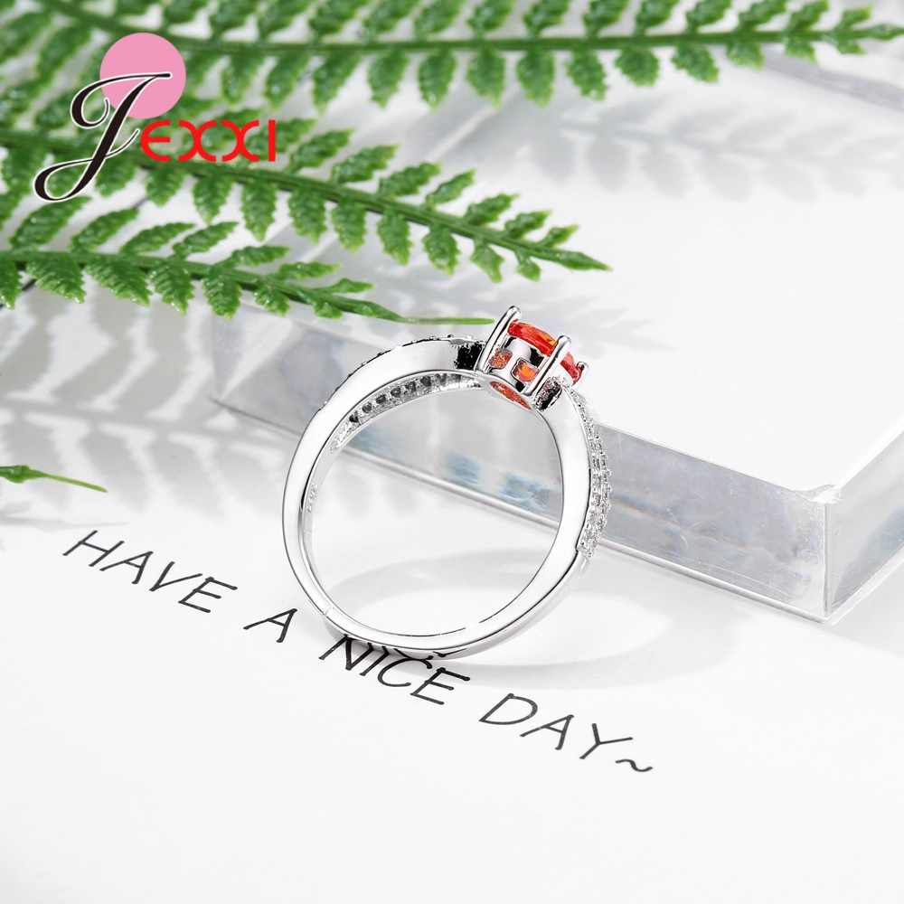 Nouvelle mode 925 en argent Sterling marque bijoux élégant Bague croisée pour les femmes Micro incrustation cristal autrichien Bague de mariage chaude