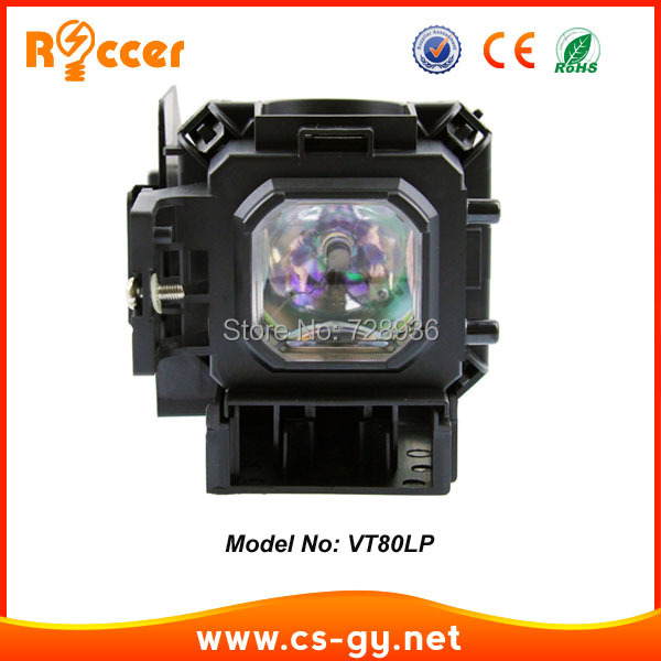 VT80LP replacement projector lamp bulb for NEC projector VT48/ VT49 /VT57/ VT58 /VT59 ETC vt80lp