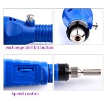 1Set Professional Electric Nail Kit Nail Tips Manicure Machine Electric Nail Art Pen Pedicure 6 Bits Nail Art Tools Kit New Gift
