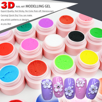 CANNI 3D 4D Sculpture Carving Gel Nail Art Design 40261 GDCOCO 24 Solid Colors 8g Soak off UV LED Nail Painting 3D Modelling Gel