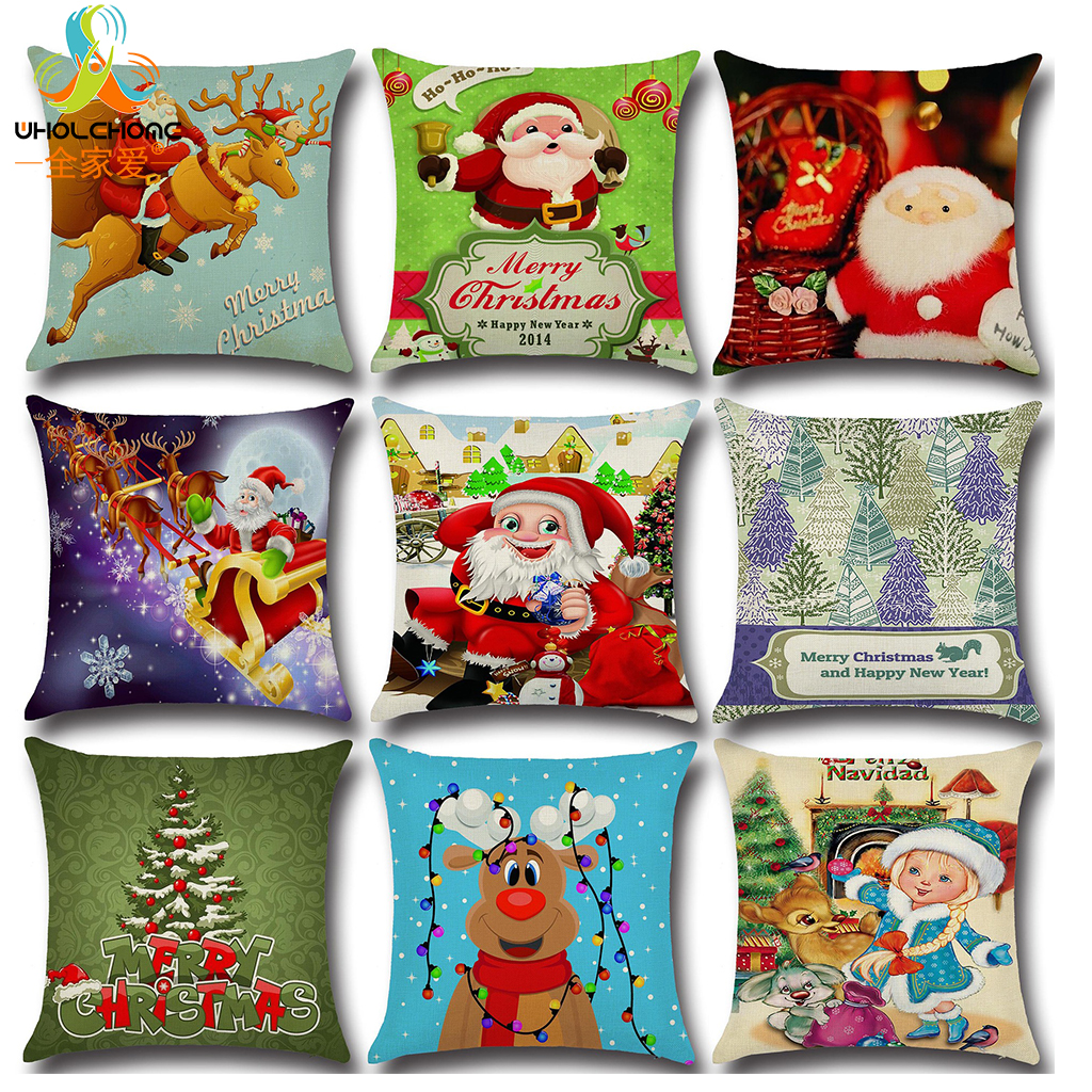 Lovely Christmas Cushion Cover Chair Sofa Pillow Case