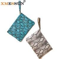 XMESSUN Snake Clutch Leather For Lady Handbag Fashion Shoulder Messenger Bag Python Banquet Glitter Bag Party Dropshipping F99