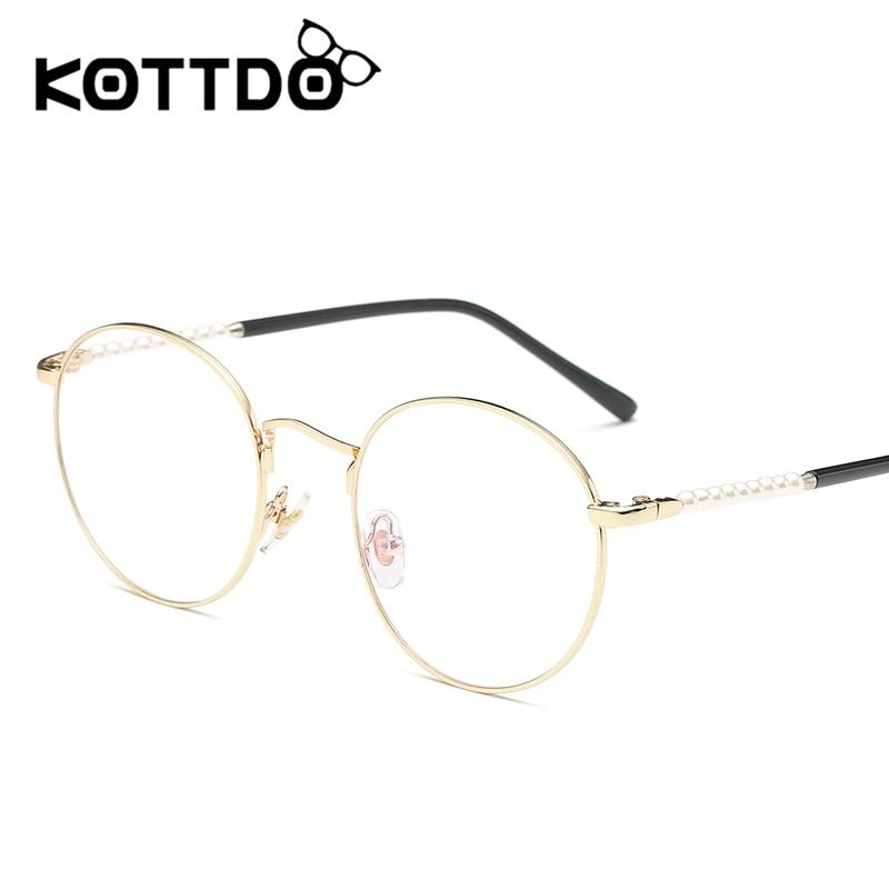 KOTTDO New Fashion Optical Frame Women Pearl Eyewear Myopia Glasses ...