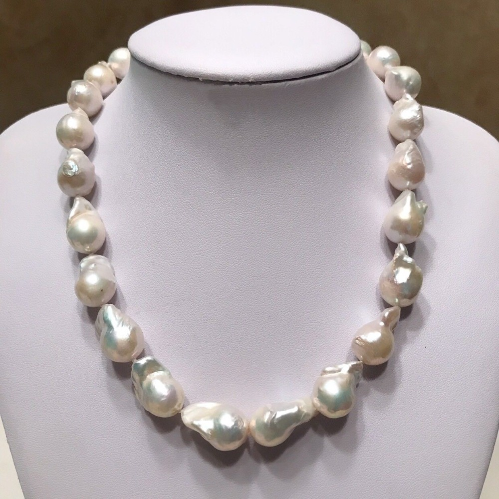 Z4518 Baroque Pearl Necklace,Large Baroque Pearl Necklace, High Luster Pearl baroque