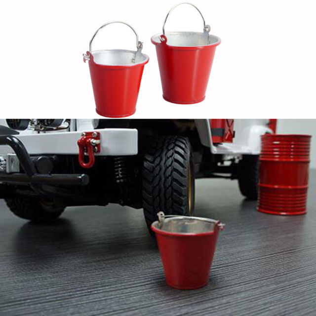 RC Fopower Metal Red Decorative Large Bucket For 1:10 Electric Rock Crawlers