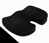 Black Coccyx Orthopedic Seat Cushion Lumbar Support Comfort Foam Office Pillow