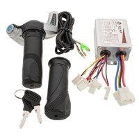 500W 24V DC Motor Brushed Controller With Electric Scooter Throttle Twist Grips Power Display