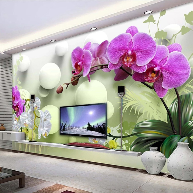 Custom Photo Wallpaper 3D Stereoscopic Ball Flower Modern TV Background Decor Interior Bedroom Living Room Sofa Mural Wall Paper