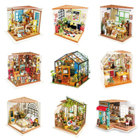 Robotime DIY Wooden Dollhouse Home Decoration Garden Figurine Miniature Accessories House Fairy Easter Gift for Girlfriend