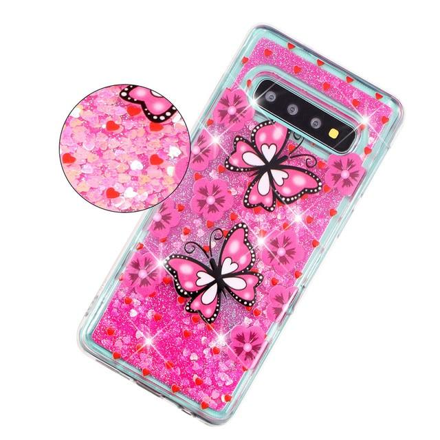 KDTONG Case sFor Samsung Galaxy S10E S10 Plus Case Glitter Liquid Soft Silicone Cover For Samsung Galaxy S10 S 10 Case Cover 2