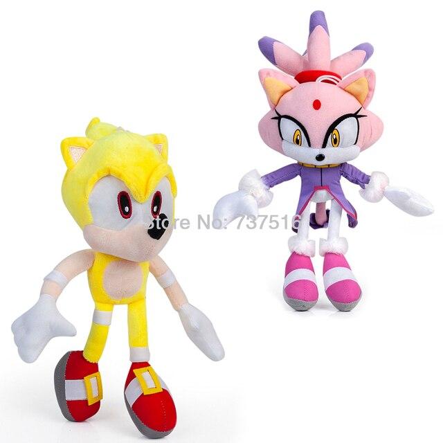 Nova Série de Sonic the Hedgehog Super Sonic Roxo Lilás gato mundo Diferente Princesa Chama o Gato De Pelúcia Boneca Brinquedos de Pelúcia presentes