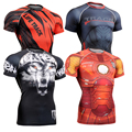 Hot Full Prints 3D Compression Tights Mens Tshirt Slim Fit Tops New Male Bodybuilding Shirt Size S-4XL