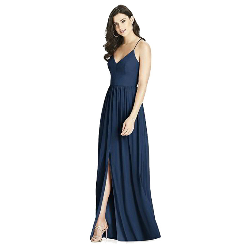 Fashion backless   evening     dresses   long V-Neck Solid Color Condole belt   evening     dress   Sexy   evening   gown Party Open fork   dress