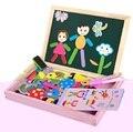 Детская деревянная головоломка магнитная двусторонняя доска для рисования борьба музыка образование игрушки
