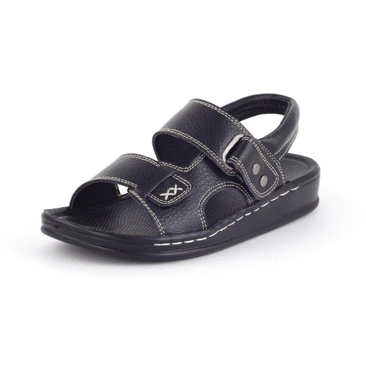 KINE PANDA Children Shoes Teen Big Kids Boy Gladiator Sandals Genuine Leather Boys Sandals Casual Comfortable Summer Beach Shoes