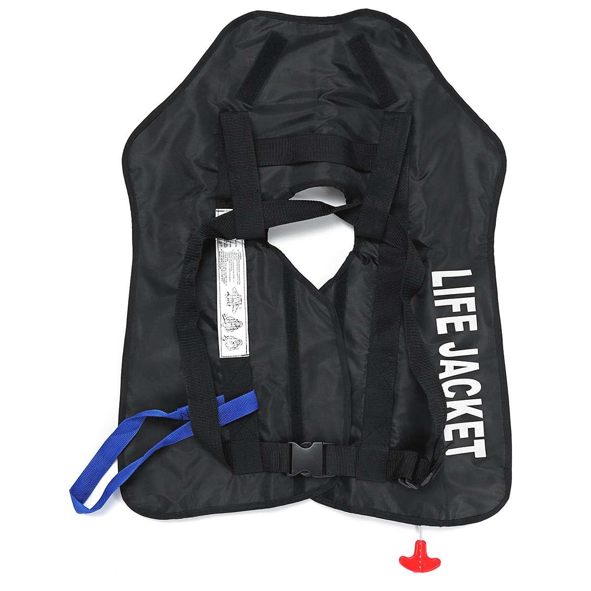 Adult Manuel Inflatable Life Jacket Vest 150N PFD Survival Flotation Universal
