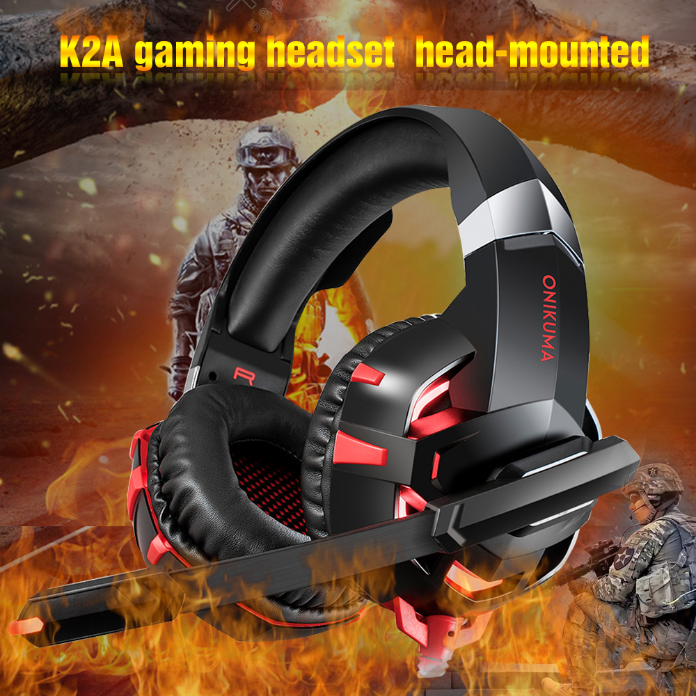 Onikuma K2A Gaming Headset PS4 Wired Stereo Game Headphones Casque Gamer