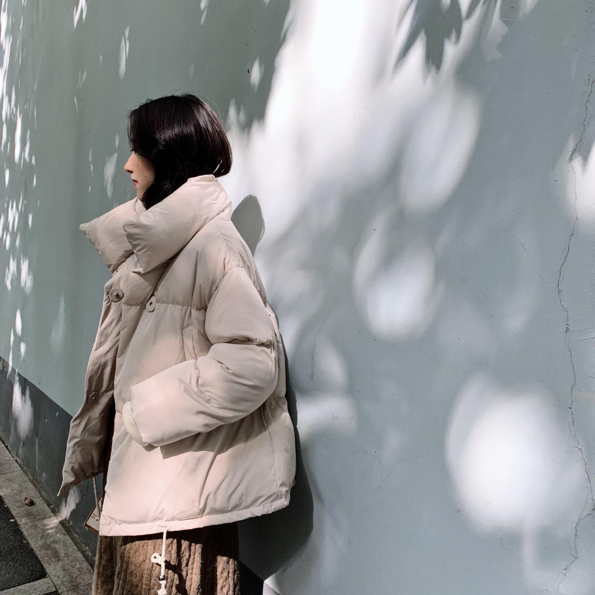Hiver En Lâche Chauds Beige Femmes Manteau Service Pain Vêtements Coton Femelle Épaissir 1020 Court 2019 Étudiant Parkas vert noir marron FX6vq