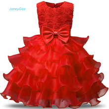 Купить с кэшбэком JaneyGao Flower Girl Dress For Wedding Party Purple Color With Appliques Bow Kids Formal Dress For Birthday First Communion Gown