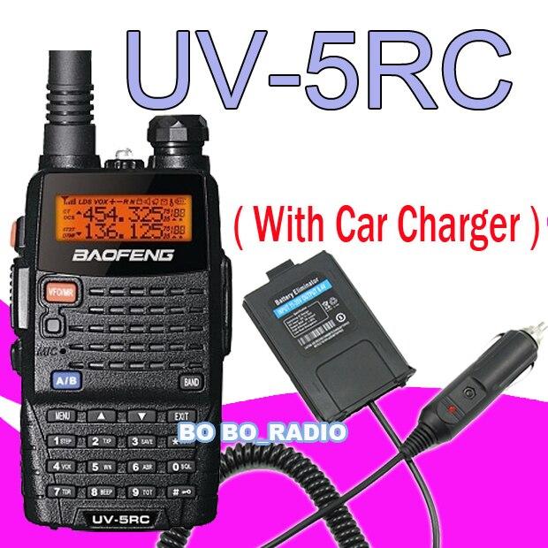 UV-5RC VHF/UHF Radio Free Earpiece + Car Use Power for Baofeng UV-5R