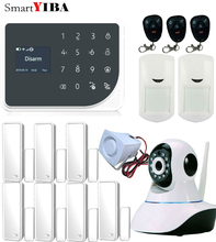 SmartYIBA GSM WIFI GRPS Alarm Systems Security Camera Surveillance Smart Burglar Home Alarmes Kits 433Mhz Sensors Alarm
