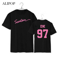 Youpop KPOP SEVENTEEN Japan Osaka Concert Album Shirts K POP Casual Cotton Clothes Tshirt T Shirt