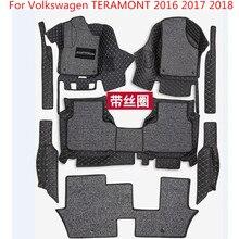 3D автомобильные коврики класса люкс-объемные кожаные Коврики для Volkswagen TERAMONT 2016 2018 2017 водостойкие, анти-грязные, защита