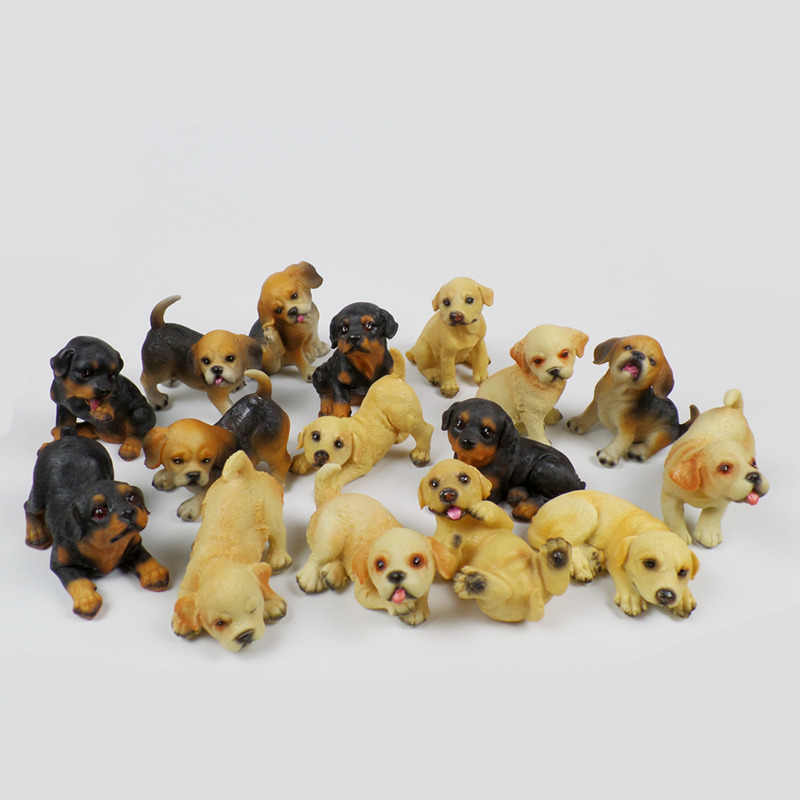 hohappyme Cute Resin Crafts Figurines Animal Dogs Pet Puppy Miniatures Gardens Ornament Party Room Decoration Gift Home Decor