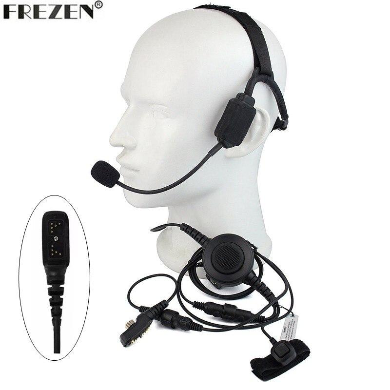 Talkie-walkie casque tactique à Conduction osseuse militaire micro pour HYT Hytera PD700 PD780 PD708 PD580 PD788 PD702