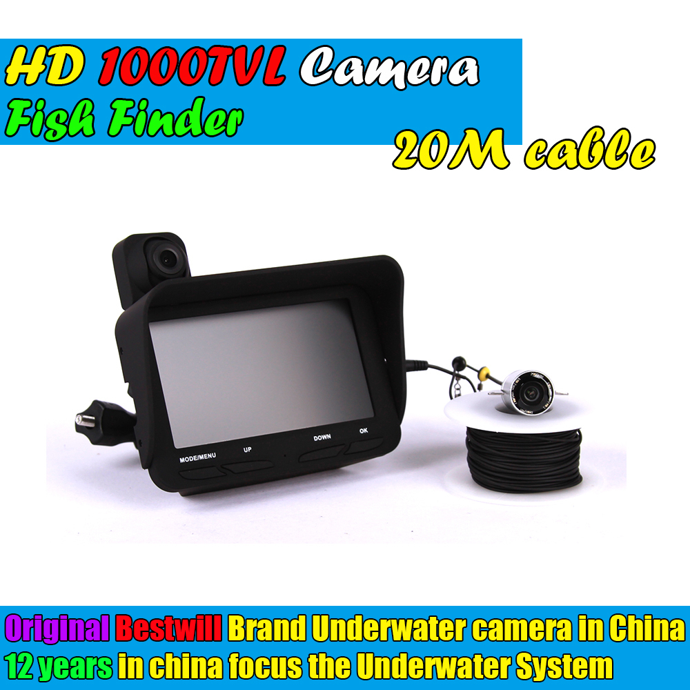 Visible Video Fish Finder Record Recording Function Underwater Ice Fishfinder Fishing Camera Ir Led With Dvr 20m Cable