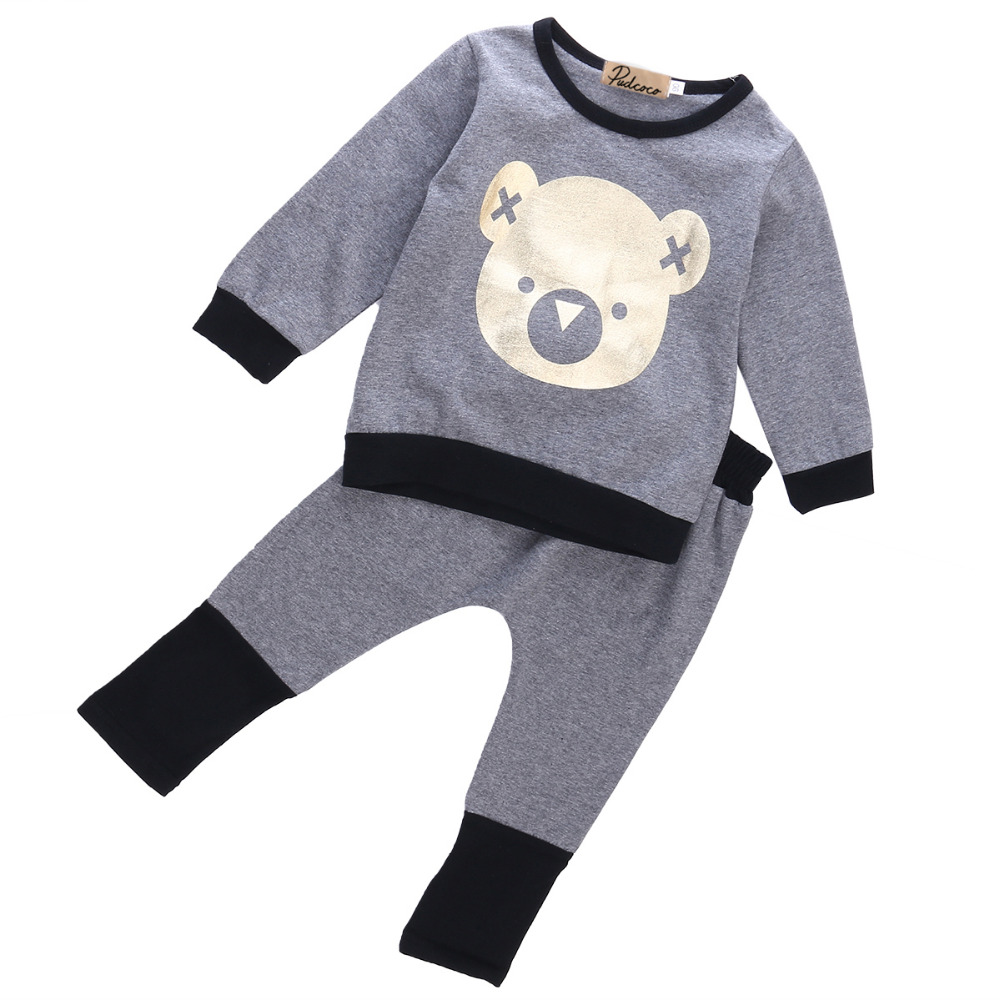 2pcs Toddler Infant Kids Baby Boys Girls Unisex T shirt Tops Long Pant Trousers Outfits Clothes Set toddler kids baby boys clothing sets t shirt tops long sleeve striped anchor long pants trousers outfits clothes set 2pcs
