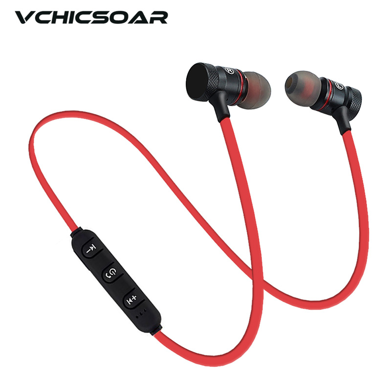vchicsoar vs1 wireless bluetooth earphones metal magnetic sport headphones stereo bass headset. Black Bedroom Furniture Sets. Home Design Ideas