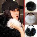 Daisy & Na Super Soft Black/White Warmers Wrap Around Ear Women Faux Fur New Earmuffs 012
