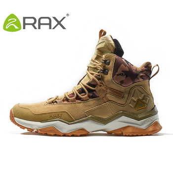 RAX Men Hiking Shoes Mid-top Waterproof Outdoor Sneaker Men Leather Trekking Boots Trail Camping Climbing Hunting Sneakers Women 5