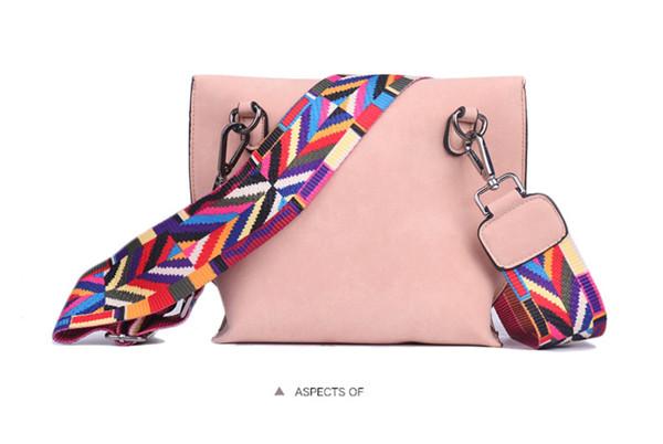 EXCELSIOR Women's Bag Scrub PU Crossbody Bags Luxury Handbags Women Bags Designer bolso mujer Colorful Strap sac a main femme 16