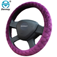 Winter Plush Car Steering Wheel Cover For 95 Car Styling 9 Colors Free Shipping