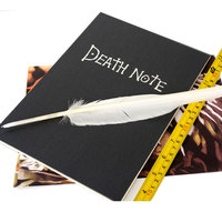 Anime Death Note Notebook With Quill Pen Light Yagami Raito Kira Cosplay Writing Pads School Student Gift 26cm Long 19.5cm Wide