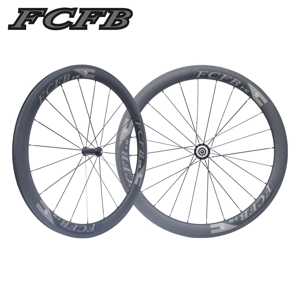 2017 FCFB road carbon wheels 700C F50 carbon wheels with R36 hubs for Road font b
