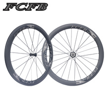 2017 FCFB road carbon wheels 700C F50 carbon wheels with R36 hubs for Road Bike, 25mm width 3Kmatt Carbon Road clincher wheelset