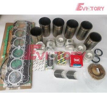 Engine rebuild kit For Mitsubishi 6D14 6D14T piston piston ring cylinder liner gasket kit main bearing and con rod bearing