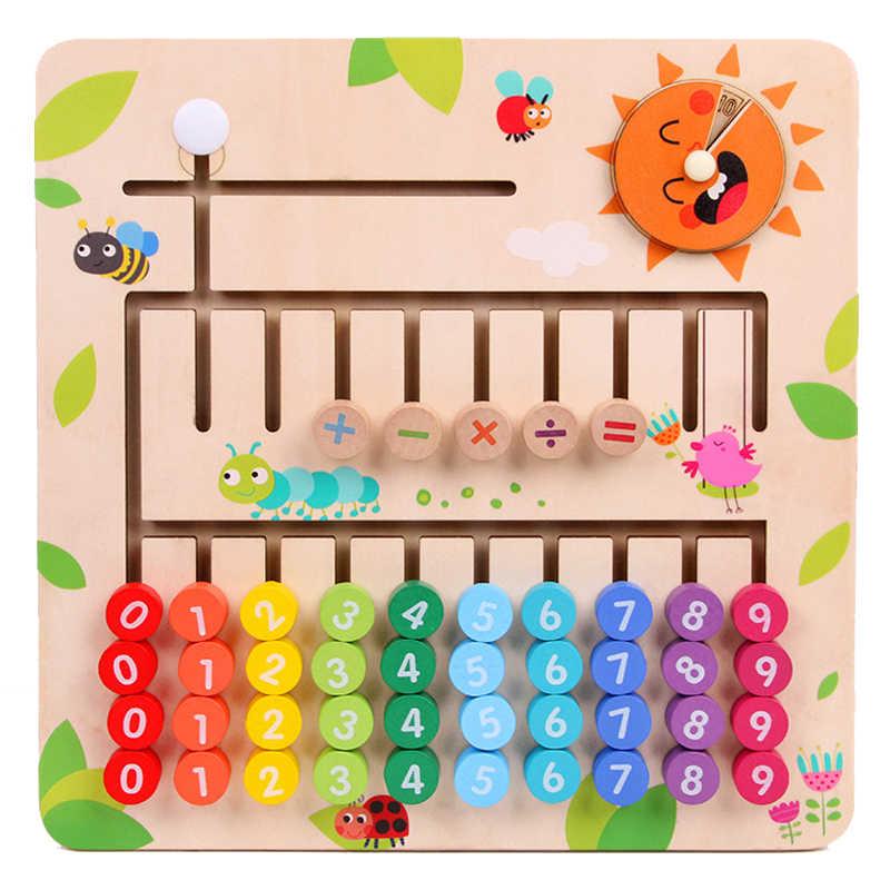 Brinquedos dos miúdos Pré Placa de Matemática Digital Fração Montessori De Madeira Brinquedos Do Bebê Brinquedos Educativos Primeiros Brinquedos de Matemática Para Crianças