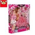 2016 аксессуары Принцессы для куклы Барби одежда обувь платья одноместный подарочные наборы фантазии шкаф девочки играют дома Игрушки Подарки