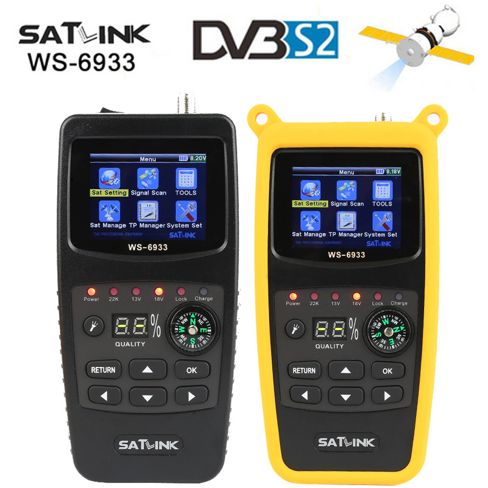 2017 High Quality Satlink WS-6933 DVB-S2 FTA C&KU Band Satellite Finder Meter satlink 6933 WS6933 with 2.1 Inch LCD Display original dvb t satlink ws 6990 terrestrial finder 1 route dvb t modulator av hdmi ws 6990 satlink 6990 digital meter finder