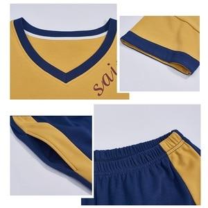 Image 5 - Été coton ensemble de pyjamas femmes doux dessin animé à manches courtes pantalon deux pièces costume mode maison vêtements pour femmes M L XL XXL