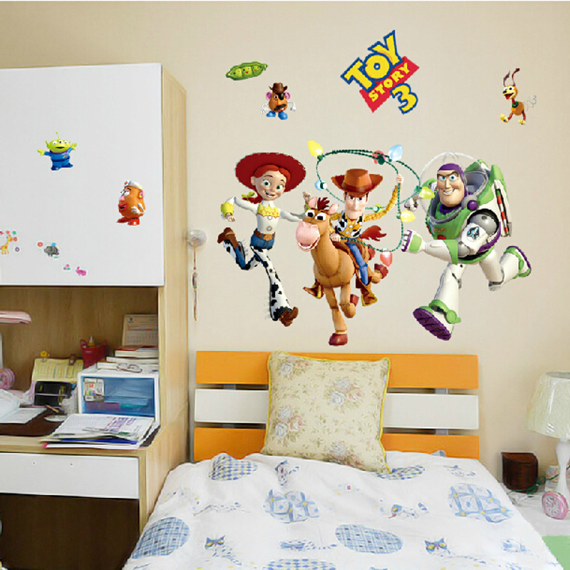 Cartoon Toy Story 3 Wall Stickers Home Decor Kids Room Decoration Pvc Diy Art Poster Removable Nursery In From