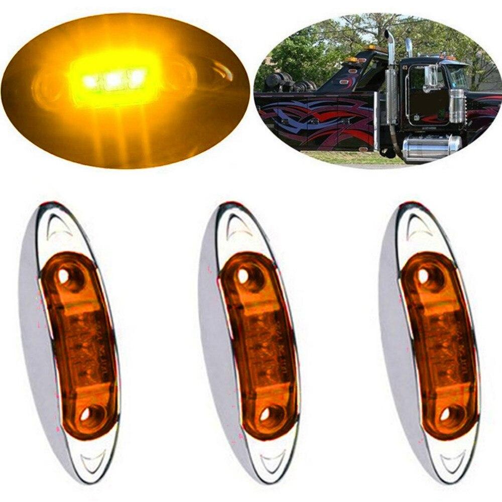 High-quality 10-30V 3LED Car Lights Piranha Side Marker Lights Clearance Signal Lamp Trailer LED Truck Lights Waterproof